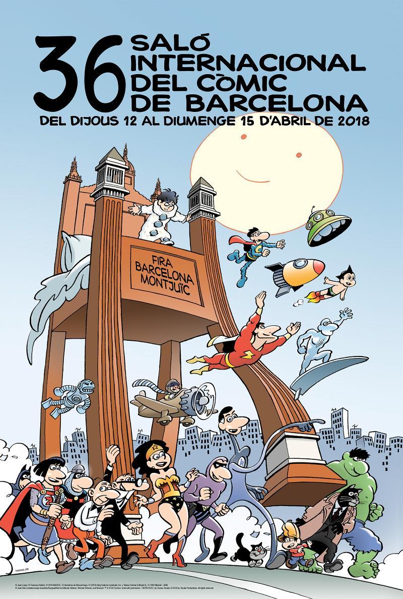 Cartell 36 Saló Internacional del Còmic de Barcelona