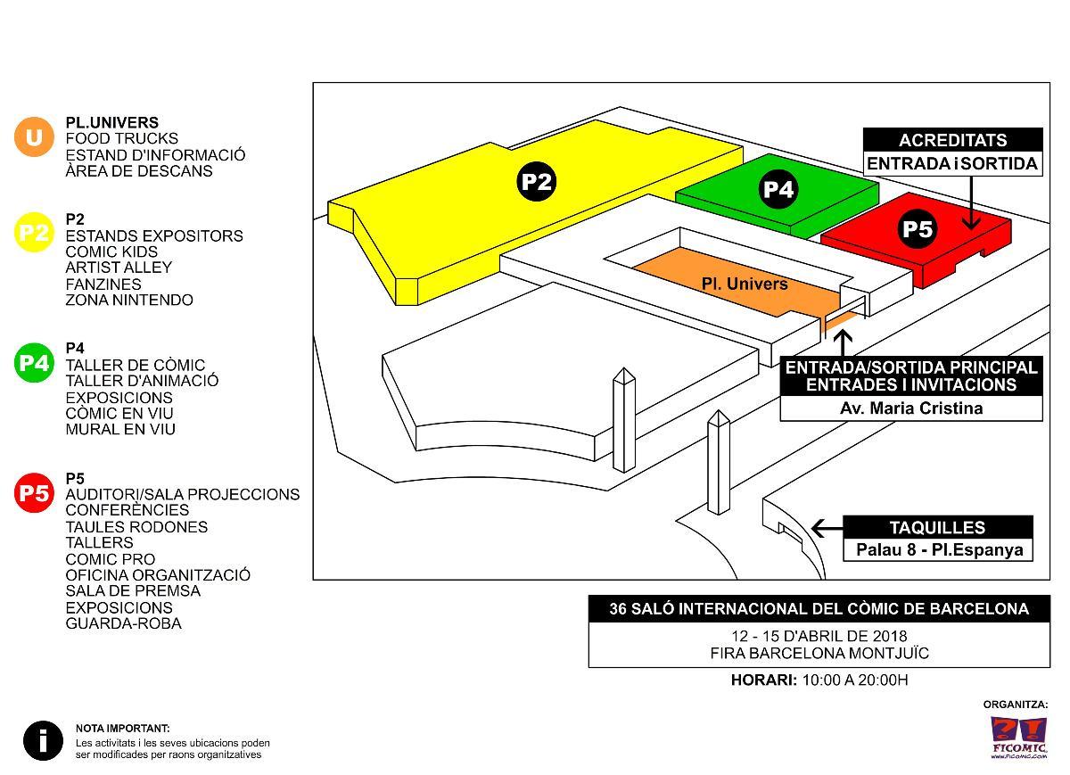 Plànols palaus 36 Saló Internacional del Còmic de Barcelona