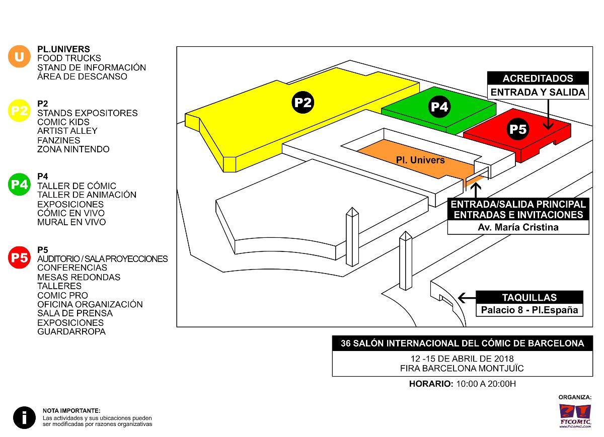 Planos palacios 36 Salón Internacional del Cómic de Barcelona