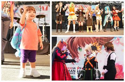 Desfilada de cosplay infantil-juvenil