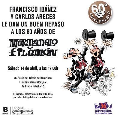 FRANCISCO IBÁÑEZ I CARLOS ARECES REPASSEN ELS 60 ANYS DE MORTADELO I FILEMÓN