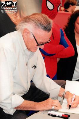 Stan Lee visitando el 16 Salón Internacional del Cómic de Barcelona en 1998